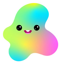 kawaii of a cute funny big vector image