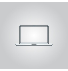 Laptop - icon sign and button vector image