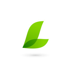 Letter l eco leaves logo icon design template vector