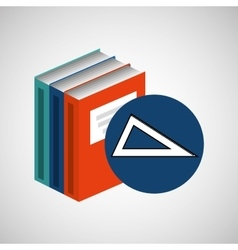 library books school acessory geometry vector image