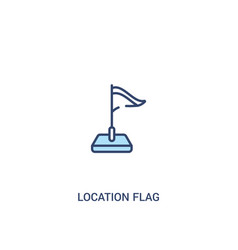 Location flag concept 2 colored icon simple line vector