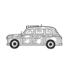 london taxi cab sketch vector image