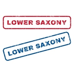 Lower Saxony Rubber Stamps vector