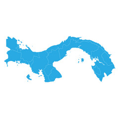 map of panama high detailed map - panama vector image
