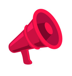 megaphone icon in flat style design element vector image