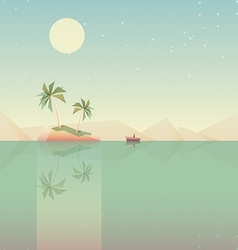 Minimalistic tropical landscape vector