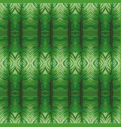 Mirror green leaves background vector