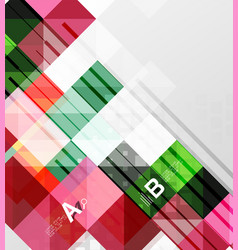 Modern geometrical abstract background squares vector
