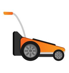 Modern grass cut machine icon cartoon style vector