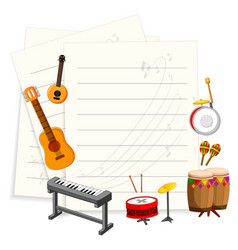 Musical instrument with an empty template vector