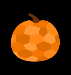 pumpkin crystal in geometric mosaic style happy vector image