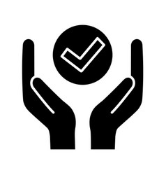 Quality services glyph icon vector