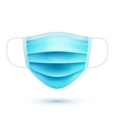 realistic medical respiratory mask face-guard vector image