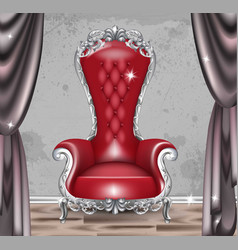 Red baroque glamour armchair furniture with vector