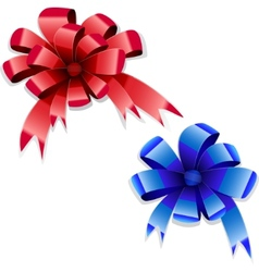 Red blue bows vector