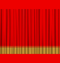 Red gold curtain vector