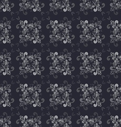 Seamless Floral GrayScale Pattern vector image