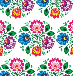 Seamless traditional floral pattern from Poland vector image