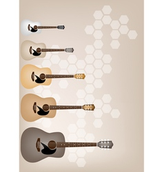Set of Elegance on Beautiful Brown Background vector