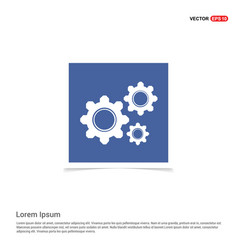 setting icon - blue photo frame vector image