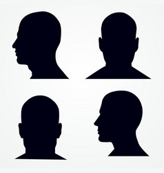 silhouette of a mans head solated vector image