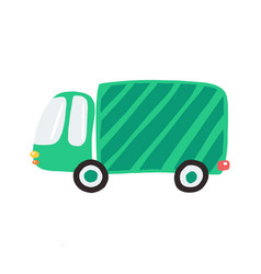 Simple green truck for prints posters vector