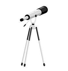 Telescope on a tripod vector