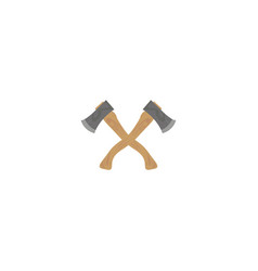 two crossed axes on a white background vector image