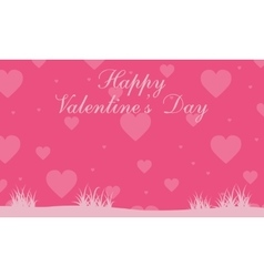 Valentine day background landscape collection vector image