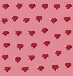 Videogame pixelated diamond background vector