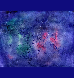 Watercolor space texture with stars universe vector
