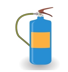 Blue Fire Extinguisher Isolated on White vector image vector image