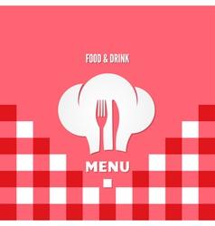 menu chef design background vector image