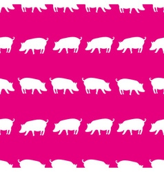 pig shadows silhouette in lines pink pattern eps10 vector image