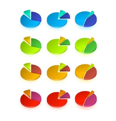 Set of different pie chart vector image
