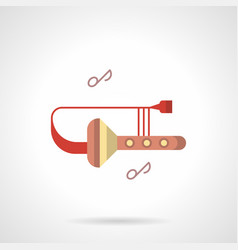 trombone club flat color icon vector image vector image