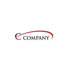 c letter swoosh logo vector image
