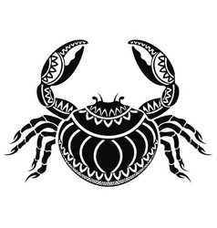 decorative crab vector image