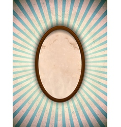 Ellipse frame with blue rays vector image vector image