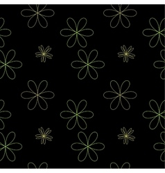 Flower chaotic seamless pattern vector image