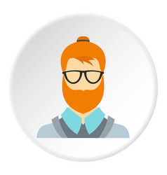 hipster icon circle vector image vector image