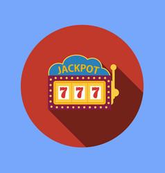 jackpot on a slot machine flat icon vector image