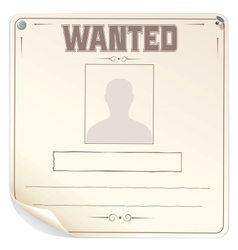 Blank Wanted Poster vector image