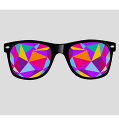 sunglasses background vector image vector image