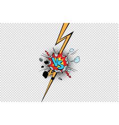 vs against versus isolate pop art background vector image vector image