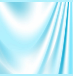 blue silk fabric for backgrounds vector image