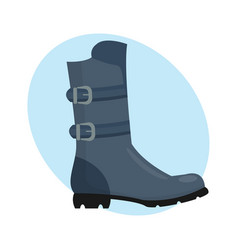 fashion female boots gray isolated casual foot vector image vector image