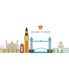 Flat design of London city Modern building vector image