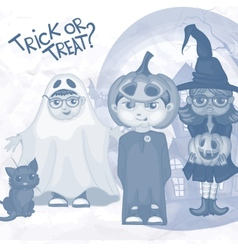 Halloween Children Trick Or Treating vector image