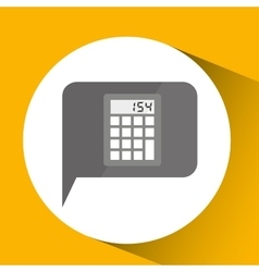 smartphone digital with calculator design isolated vector image